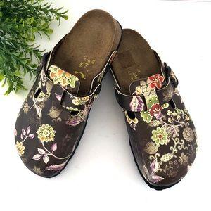 Birkenstock Papillio purple floral clog size 38